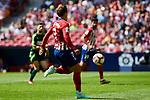 Atletico de Madrid's Antoine Griezmann and SD Eibar's during La Liga match. September 15, 2018. (ALTERPHOTOS/A. Perez Meca)