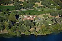 aerial photograph Ceago Vinegarden, Nice, Lake County, California