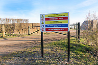Farm entrance sign - site health & safety