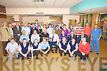RETIRED: James O'Connor Lohercannon who retired from Kerry General Hospital on Friday after serving 45years (James is seated centre) helping James to mark his retirement were Doctors, Nurses, and Porters of the Kerry General....