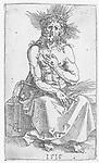 Christ as Man of Sorrows, sitting, Albrecht Dürer, 1515