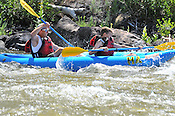 Bucking Rainbow Outfitters crashing Cable Rapid while floating the Upper Colorado River from Rancho to State Bridge, July 17, 2013, Morning Trip, AM, Bond, Colorado - WhiteWater-Pix | River Adventure Photography - by MADOGRAPHER Doug Mayhew