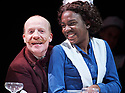 Fanny and Alexander. Adapted for the stage from the film by Swedish Film Director Ingmar Bergman by Stephen Beresford, directed by Max Webster.  With Jonathan Slinger as Gustav Adolf Ekdahi, Vivian Oparah as Maj. Opens at The Old Vic Theatre on 1/3/18 pic Geraint Lewis EDITORIAL USE ONLY