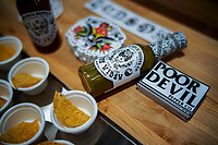 NEW YORK, NY - JUNE 25: Products of Poor Devil pepper Co. are seen at a stand during the Summer Fancy Food Show at the Javits Center in the borough of Manhattan on June 23, 2019 in New York, The Summer Fancy Food Show is the largest and biggest specialty food industry event in the continent (Photo by Eduardo MunozAlvarezVIEWpress/Corbis via Getty Image