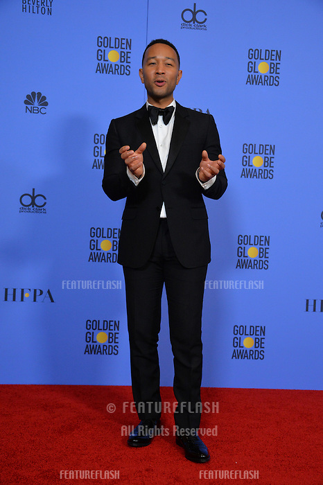 John Legend at the 74th Golden Globe Awards  at The Beverly Hilton Hotel, Los Angeles USA 8th January  2017<br /> Picture: Paul Smith/Featureflash/SilverHub 0208 004 5359 sales@silverhubmedia.com