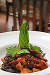 The Pizzaiola di Spaghetti al Nero di Sepia - squid-ink infused spaghetti tossed with fresh lobster meat and homemade pizzaiola at Sud Italia Ristorante at 2347 University Wednesday May 20, 2015.(Dave Rossman photo)