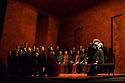 "Buxton, UK. 04.07.2017. Buxton International Festival presents ""Macbeth"", by Verdi, at Buxton Opera House, Buxton, Derbyshire.  Picture shows: The Chorus, Kate Ladner (Lady Macbeth), Stephen Gadd (Macbeth). Photograph © Jane Hobson"