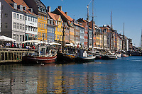 Nyhavn or New Harbor canal in Copenhagen, Denmark.