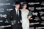 Actor Francesc Colomer and actress Natalia de Molina attends Goya Cinema Awards 2014 red carpet at Centro de Congresos Principe Felipe on February 9, 2014 in Madrid, Spain. (ALTERPHOTOS/Victor Blanco)