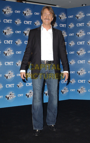 JEFF FOXWORTHY.2006 CMT Music Awards held at The Curb Event Center at Belmont University, Nashville, Tennessee, USA - Pressroom..April 10th, 2006.Photo: George Shepherd/AdMedia/Capital Pictures.Ref: GS/ADM.full length jeans denim black suit jacket.www.capitalpictures.com.sales@capitalpictures.com.© Capital Pictures.