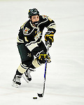 12 November 2010: University of Vermont Catamount defenseman Nick Bruneteau, a Freshman from Omaha, NE, in action against the Boston College Eagles at Gutterson Fieldhouse in Burlington, Vermont. The Eagles edged out the Cats 3-2 in the first game of their weekend series. Mandatory Credit: Ed Wolfstein Photo