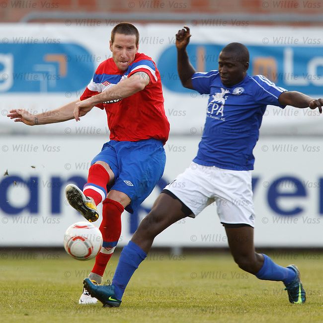 Kirk Broadfoot clears from Mamadou Diabang