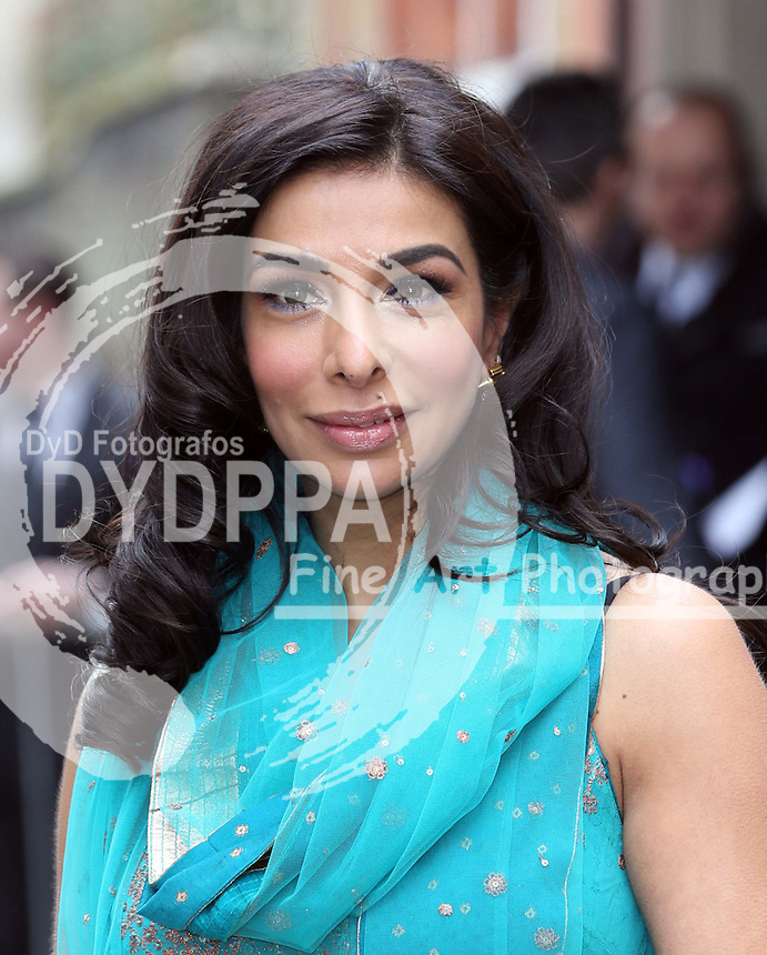 Shobna Gulati   arriving for the wedding of Coronation Street actress Helen Worth   at St.James's Church in Piccadilly, London, Saturday 6th   April 2013.  Photo by: Stephen Lock / i-Images / DyD Fotografos