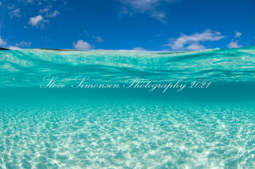 Crystal clear Caribbean water.Trunk Bay, St John.Virgin Islands National Park