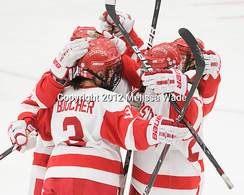 - The Boston University Terriers defeated the Harvard University Crimson 5-2 on Monday, January 31, 2012, in the opening round of the 2012 Women's Beanpot at Walter Brown Arena in Boston, Massachusetts.