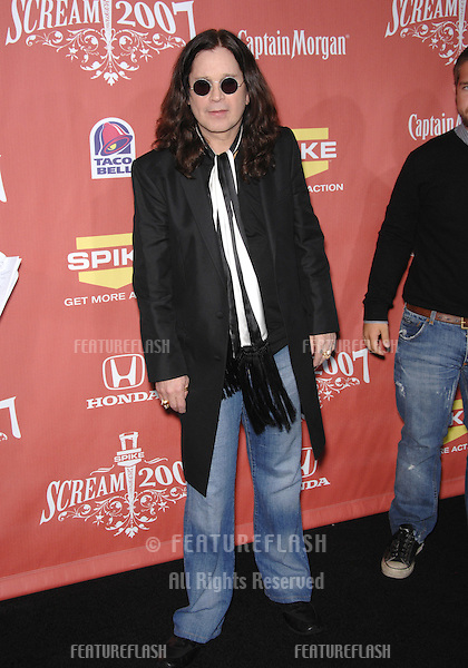 """Ozzy Osbourne at Spike TV's """"Scream 2007"""" Awards honoring the best in horror, sci-fi, fantasy & comic genres, at the Greak Theatre, Hollywood..October 20, 2007  Los Angeles, CA.Picture: Paul Smith / Featureflash"""