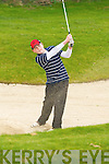Fergal O'Shea Fossa chips out of the bunker at Laccabawn Golf Course on Saturday   Copyright Kerry's Eye 2008