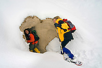 Goreme, Cappadocia, Nevsehir, Turkey, winter 2005. Climbing up to white valley.  The Valleys of the Goreme National Park offer some very good snow shoeing. Many people who visit in the summer do not realize that temperatures in winter can go as low as minus 25 celcius, with a meter of snow on the ground.Photo by Frits Meyst / MeystPhoto.com