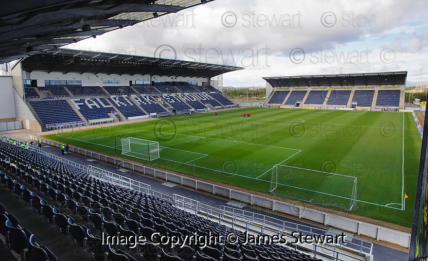 General View of Falkirk Stadium taken from South Stand looking toward the Main and North Stand ....