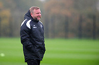 Billy Reid, assistant manager for Swansea in action during the Swansea City Training at The Fairwood Training Ground on October 16, 2018 in Swansea, Wales, UK. Tuesday 16 October 2018
