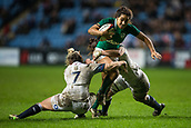 16th March 2018, Ricoh Arena, Coventry, England; Womens Six Nations Rugby, England Women versus Ireland Women; Sene Naoupu of Ireland is tackled by Marlie Packer of England