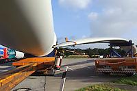 Transport von Windrädern, Schleswig-Holstein, Deutschland