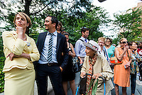 New York, NY 26 AUG 2014 - Gubernatorial candidate Zephyr Teachout endorsed by the National Organization of Women ©Stacy Walsh Rosenstock/Alamy Live News