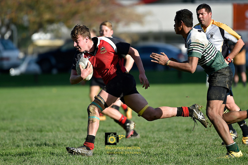 College Rugby - Taita College v Stratford High School at Taita College, Lower Hutt, New Zealand on Tuesday 5 July 2016. <br /> Photo by Masanori Udagawa. <br /> www.photowellington.photoshelter.com.