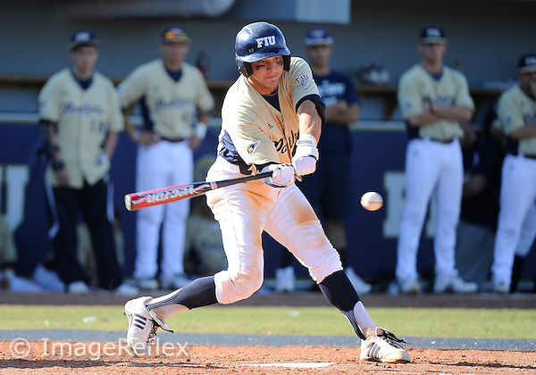 Florida International University infielder Garrett Wittels (10) plays against Southeast Louisiana University.  FIU won the game 8-3 on February 19, 2011 at Miami, Florida. .