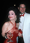Patti Lupone with her husband Matthew Johnston at the Tony Awards in New York City in the 1988.