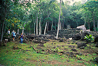 The Kaneaki Heiau located in Makaha Valley on Oahu's leeward coast.