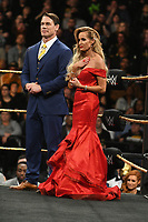 NEW YORK, NY - APRIL 6: John Cena and Dana Warrior at the 2019 WWE Hall Of Fame Ceremony at the Barclay's Center in Brooklyn, New York City on April 6, 2019.      <br /> CAP/MPI/GN<br /> ©GN/MPI/Capital Pictures