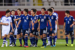 Japan squad celebrates the team's second goal scored by Tsukasa Shiotani during the AFC Asian Cup UAE 2019 Group F match between Japan (JPN) and Uzbekistan (UZB) at Khalifa Bin Zayed Stadium on 17 January 2019 in Al Ain, United Arab Emirates. Photo by Marcio Rodrigo Machado / Power Sport Images