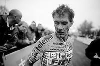 Jens Vandekinderen (BEL/Telenet-Fidea/U23) post-race<br /> <br /> Superprestige Gavere 2014
