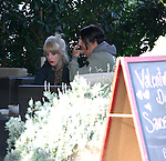 January 11th 2012  Exclusive ....Anthony Kiedis with his new blonde girl friend eating lunch & laughing & kissing while feeding each other food at the Savory Café restaurant in Malibu California ...AbilityFilms@yahoo.com.805-427-3519.www.AbilityFilms.com.