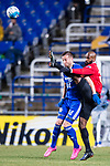 Ulsan Hyundai Forward Ivan Kovacec (L) fights for the ball with Muangthong Defender Celio Dos Santos (R) during the AFC Champions League 2017 Group E match between  Ulsan Hyundai FC (KOR) vs Muangthong United (THA) at the Ulsan Munsu Football Stadium on 14 March 2017 in Ulsan, South Korea. Photo by Chung Yan Man / Power Sport Images