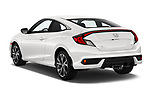Car pictures of rear three quarter view of a 2019 Honda Civic-Coupe Sport 2 Door Coupe angular rear