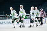 Solna 2014-03-16 Bandy SM-final herrar Sandvikens AIK - V&auml;ster&aring;s SK :  <br /> V&auml;ster&aring;s Aksel Ekblom , V&auml;ster&aring;s Jonas Nilsson , V&auml;ster&aring;s Tobias Holmberg och V&auml;ster&aring;s Ted Bergstr&ouml;m deppar<br /> (Foto: Kenta J&ouml;nsson) Nyckelord:  SM SM-final final herr herrar VSK V&auml;ster&aring;s SAIK Sandviken  depp besviken besvikelse sorg ledsen deppig nedst&auml;md uppgiven sad disappointment disappointed dejected
