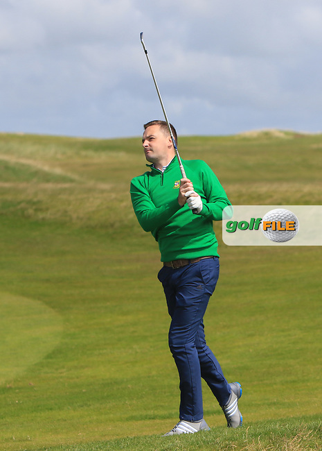 Fergal O'Sullivan (Tralee) on the 2nd fairway during the Munster Final of the AIG Barton Shield at Tralee Golf Club, Tralee, Co Kerry. 12/08/2017<br /> Picture: Golffile | Thos Caffrey<br /> <br /> <br /> All photo usage must carry mandatory copyright credit     (&copy; Golffile | Thos Caffrey)
