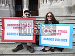 Alan Kelly and Janet Mulroy at the rally against voilence in the town. Photo:Colin Bell/pressphotos.ie