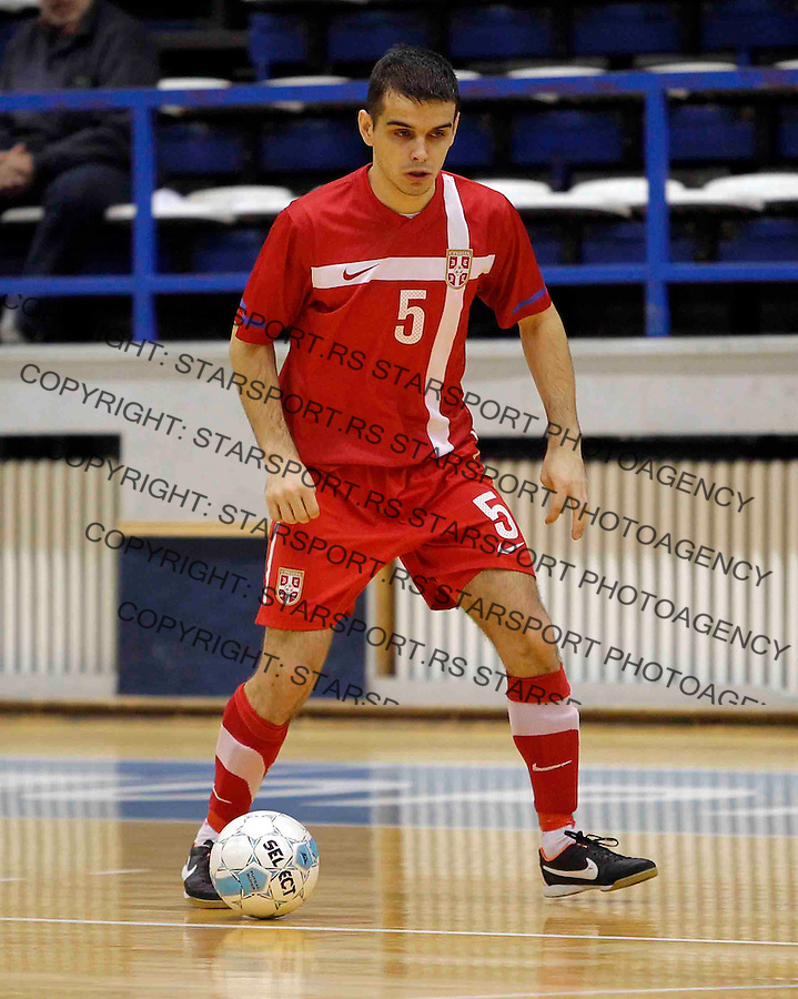 Vladan Vesic UEFA futsal friendly game, prijateljska utakmica, Srbija Makedonija 22.2.2014. (credit image & photo: Pedja Milosavljevic / STARSPORT / +318 64 1260 959 / thepedja@gmail.com)