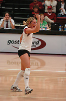 10 November 2005: Kristin Richards during Stanford's 3-0 win over ASU at Maples Pavilion in Stanford, CA.