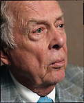 The energy mogul, T Boone Pickens at his office in Dallas, Texas.