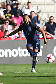 June 19th 2017, Kielce, Poland; UEFA European U-21 football championships, England versus Slovakia; Nathan Redmond (ENG)gets a shot on goal