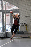 11 MAR 2011: Brenna Coyle of Hamline University throws during the the Division III Men's and Women's Indoor Track and Field Championships held at the Capital Center Fieldhouse on the Capital University campus in Columbus, OH.  Jay LaPrete/NCAA Photos