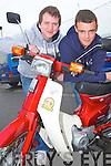DINGLE RUN: Bothers Jeffery and Carl Quirke from Cahersiveen enjoying the Dingle 100 Mile Honda 50 Run at the Na Gaei clubhouse, Tralee on Sunday.