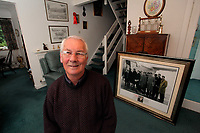 Pictured: Former footballer Kenny Morgans at his home in Swansea,south Wales. Monday 14 November 2011<br />