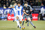 CD Leganes' Gabriel Pires (l) and Celta de Vigo's Josep Sene during La Liga match. January 28,2017. (ALTERPHOTOS/Acero)