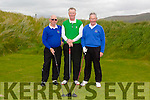 Les Tiplady Captain Ardfert golf club, Richard Rafferty Tralee golf club and John Slattery Ardfert golf club at the Federation of Co Kerry golf clubs Kerry Shield which took place at Castlegregory Golf Club on Saturday