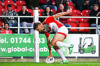 Picture by Alex Whitehead/SWpix.com - 01/05/2014 - Rugby League - First Utility Super League - St Helens v London Broncos - Langtree Park, St Helens, England - St Helens' Tommy Makinson scores a try.